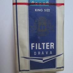 PACHET NOU TIGARI COLECTIE FILTER DRAVA DIN ANII 80 - Pachet tigari