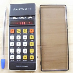 Calculator vechi stiintific extrem de rar Aristo M 75 anii 70 partial functional - Calculator Birou