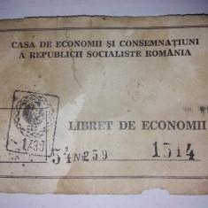 Libret economii R.S.R.