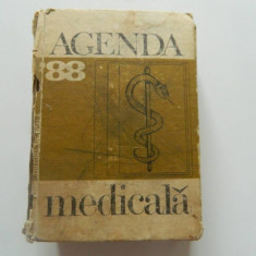 Agenda medicala '88, 1988, Bucuresti, Editura Medicala, carte vintage