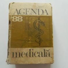 Agenda medicala '88, 1988, Bucuresti, Editura Medicala