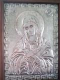 Icoana inramata foita metal  culoare argint