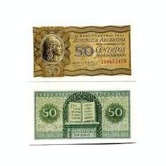 Argentina 50 centavos 1952, UNC, necirculata, 50 roni, foarte rara !!!