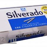 Tuburi SILVERADO CU CARBON ACTIV 200 tuburi injectat tutun/tabac, filtre tigari - Foite tigari