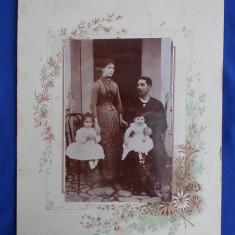 FOTOGRAFIE VECHE PE SUPORT DE CARTON - 1891