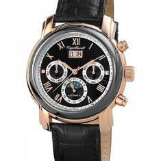 Ceas de lux Engelhardt Martin Rose Gold Black, original, nou, cu factura si garantie! - Ceas barbatesc Engelhardt, Lux - elegant, Mecanic-Automatic