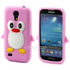 Husa silicon model pinguin Samsung Galaxy S4 Mini i9190 + folie protectie ecran + expediere gratuita