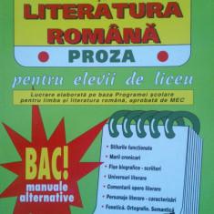 LIMBA SI LITERATURA ROMANA. PROZA - Mariana Badea - Teste Bacalaureat