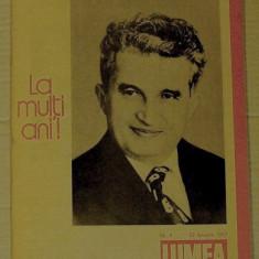 REVISTA LUMEA - NR. OMAGIAL NICOLAE CEAUSESCU - 22 IANUARIE 1987 - Jubiliare