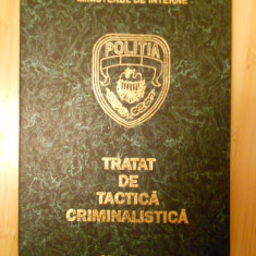 CONSTANTIN AIONITOAIE--TRATAT DE TACTICA CRIMINALISTICA - Carte Drept penal