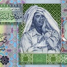 LIBIA █ bancnota █ 1 Dinar █ 2002 █ P-64a █ semnatura 4 █ UNC █ necirculata