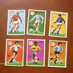 Belize  1981   sport  fotbal   MI  614-619   MNH    cota  Michel  = 35 eu