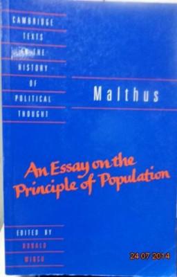 MALTHUS- UN ESEU ASUPRA PRINCIPIULUI POPULATIEI ( lb engleza)  AN ESSAY ON THE PRINCIPLE OF POPULATION foto