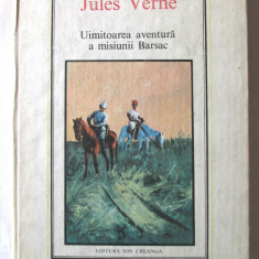 """UIMITOAREA AVENTURA A MISIUNII BARSAC"", Ed. II-a, Jules Verne, 1990. Carte noua, Alta editura"