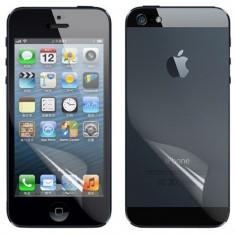 Folie iPhone 5 5S fata spate transparenta by NEWTOP - Folie de protectie Apple