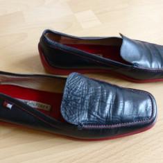 Pantofi Tommy Hilfiger din piele naturala; marime estimata 41 (27 cm talpic) - Pantofi barbat Tommy Hilfiger, Culoare: Din imagine