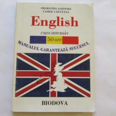 ENGLISH-CURS INTENSIV 50 ORE-MANUALUL GARANTEAZA SUCCESUL - Curs Limba Engleza