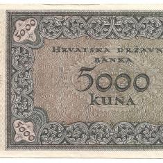 CROATIA 5000 KUNA 1943 F