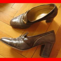 Sandale / pantofi - dama, Nr. 35, piele maro, folositi, stare buna, ieftin - Sandale dama