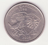 (M62) MONEDA SUA - QUARTER DOLLAR 2000 - SOUTH CAROLINA - LIT. P, America de Nord