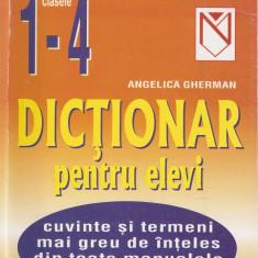 ANGELICA GHERMAN - Dictionar niculescu PENTRU ELEVI CLASELE 1 - 4 { 2002, 169 p.}, Niculescu