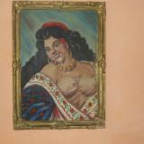 TABLOU TIGANGA CU CIREASA IN GURA - Pictor roman