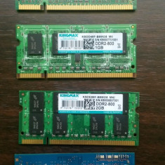 Vand ram laptop ddr3 si ddr2 placute de 1gb si 2 gb - Memorie RAM laptop Kingmax, 1333 mhz