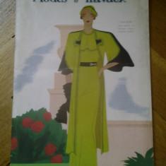 Revista franceza Modes et Travaux 15 mai 1934 moda si design vestimentar art deco chic fashion cool Franta peste 120 ilustratii + reclame de epoca - Carte design vestimentar