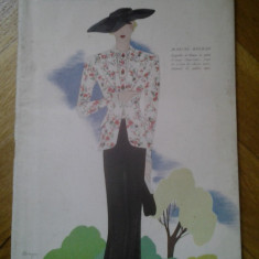 Revista franceza Modes et Travaux 1 aprilie 1934 moda si design vestimentar art deco chic fashion cool Franta peste 115 ilustratii + reclame de epoca - Carte design vestimentar