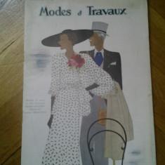 Revista franceza Modes et Travaux 1 mai 1934 moda si design vestimentar art deco chic fashion cool Franta peste 125 ilustratii + reclame de epoca - Carte design vestimentar