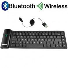 Tastatura Wireless Bluetooth Ipad, Iphone, tabeta, laptop, computer sau telefoane mobile