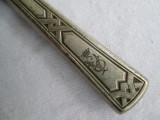 Set 62 tacamuri vechi alpaca argintata, placate cu argint ART DECO monograma