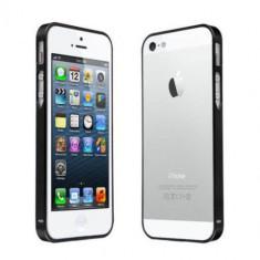 Bumper aluminiu negru Iphone 4 4s + folie protectie ecran + expediere gratuita