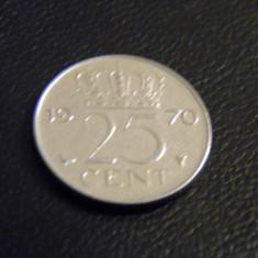 Olanda 25 cents (centi) 1970, Europa