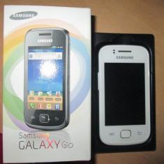 Samsung Galaxy Gio S5660 - Telefon mobil Samsung Galaxy Gio, Alb, Neblocat