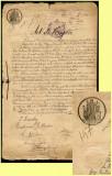 Romania 1910 - Coala fiscala 10 Lei negru, hartie cu timbru fiscal fix si sec