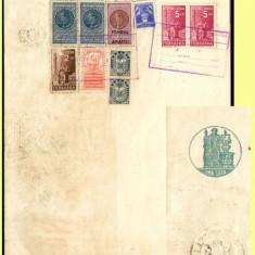 Romania 1938 - Coala fiscala 100 Lei verde, timbru fiscal fix si sec, fiscale