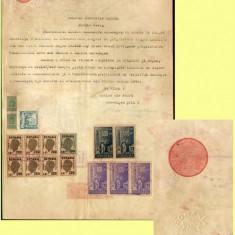 Romania 1943 - Coala fiscala 1200 Lei rosu, hartie timbru fiscal fix si sec
