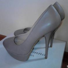Pantofi nude noi - Pantof dama, Marime: 36