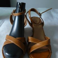 Sandale dama, Timberland, din piele, Marime: 38, Camel