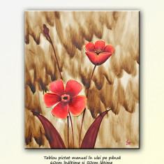Flori deco 7 (60x50cm) - tablou cu maci, livrare gratuita in 24h