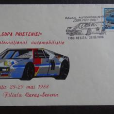 Plic-Efect filatelic-Cupa Prieteniei-Concurs international de automobile-Dacia