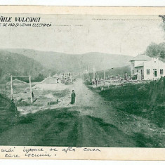 79 - Dambovita, BAILE VULCANA, puturile, uzina electrica - old PC. - used - 1928