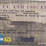 Bilet Meci - F.C.  CFR 1907 CLUJ -  FK JAGODINA 17.07.2014