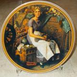 Farfurie - decorativa / de colectie - portelan USA - Knowles - 1985