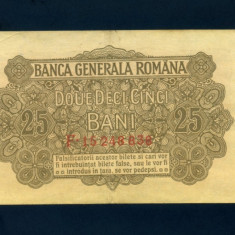 Ocupatia germana in Romania 25 bani 1917 VF - Bancnota romaneasca
