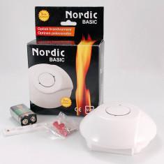 Avertizor (detector) acustic si optic de incendiu - Nordic Basic GNS166 - - Senzor de fum