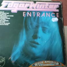 Edgar winter entrance muzica hard blues rock disc vinyl lp 1974 editie vest - Muzica Blues, VINIL