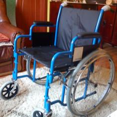Scaun handicap, nou nout, infoliat, cu garantie, 58cm latime - Scaun cu rotile