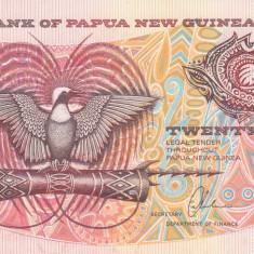 Bancnota Papua Noua Guinee 20 Kina (1989) - P10b UNC (valoare de catalog $40)